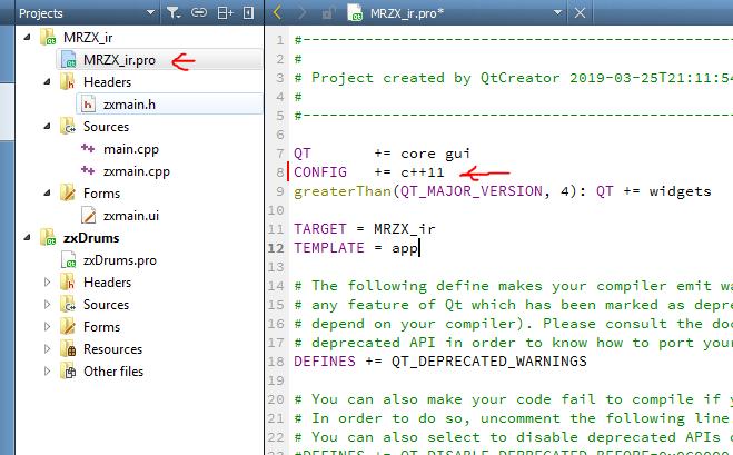 استفاده از نسخه سی پلاس پلاس 11 در محیط Qt Creator