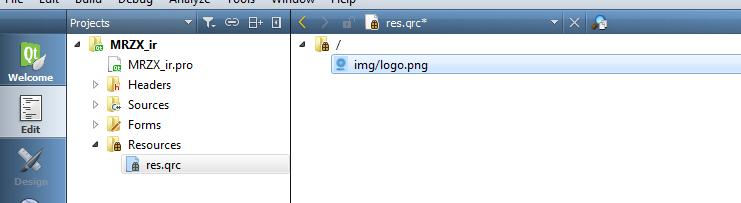 اضافه کردن یک فایل به ریسور در کیوتی